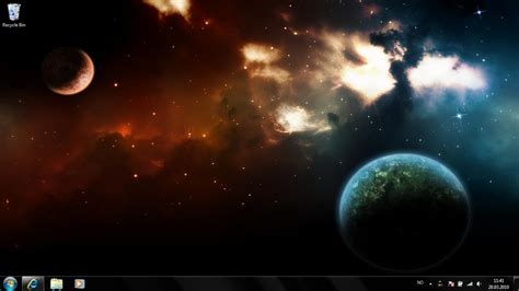 microsoft themes space the world of space windows 7 theme