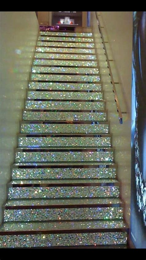 glitter wallpaper on stairs 17 best images about glitter ensuite i have to have this