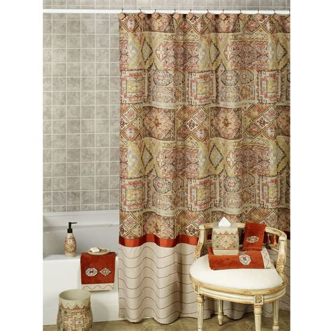 shower curtains with red in them red and gold shower curtain curtains ideas cablecarchic