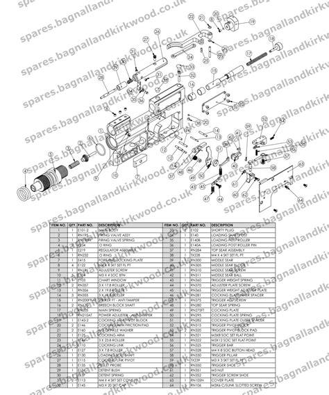 air rifle parts diagram air arms ev2 bagnall and kirkwood airgun spares