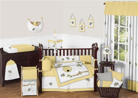 Honey Crib Bedding by Gender Neutral Yellow Honey Bumblebee Discount Boy Or