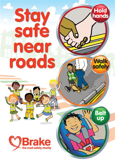 printable road safety posters road safety resources for educators brake the road