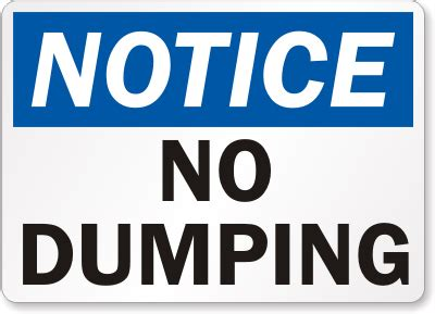 7 Best Dumping Lines by No Dumping Signs Trash Litter Signs Sku S Clipart