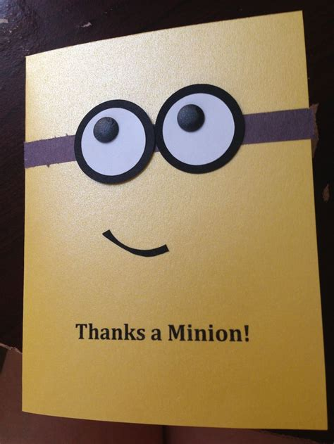 minion thank you cards template 25 best ideas about minion card on cards