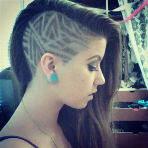 shaved hairstyles with design best 25 shaved hair designs ideas on pinterest undercut