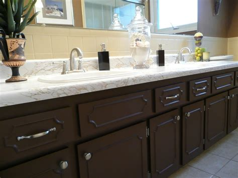 brown painted bathroom cabinets bathroom update maximum impact on a minimal 71 budget