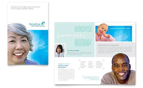dental brochure templates dental care brochure template design