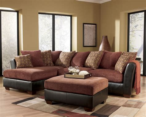 ashley furniture sectional couch ashley furniture larson 31400 cinnamon sofa sectional
