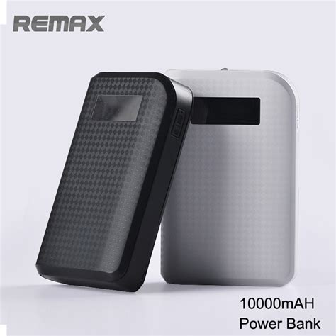Remax Proda Power Box Led 10000mah V6i original remax proda 10000mah power bank portable charger led flashlight external battery lcd