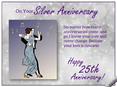 silver anniversary wishes free milestones ecards greeting cards 123 greetings