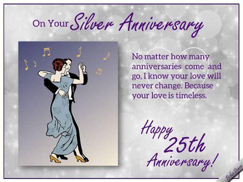 Free Silver Wedding Anniversary Cards