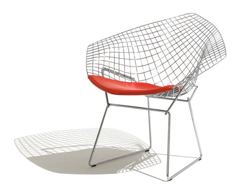 bertoia small chair with seat cushion hivemodern