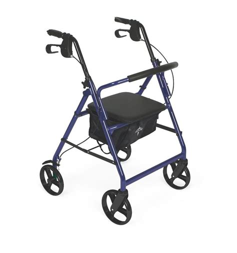 folding rollator walker with seat medline rollator mobility folding walker 4 wheel