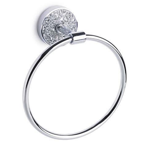 Ring Standi Ring Chrom chrome silver diamante towel ring holder metal new ebay