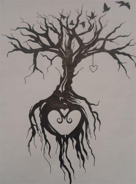 heart tree tattoo tree of by emmybunny deviantart on