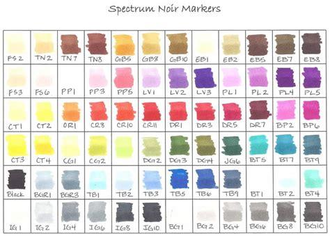 what color is noir spectrum noir color chart by happy ster at
