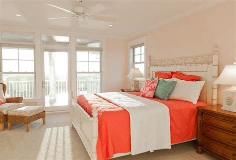 coral bedroom paint beach house with casual coastal interiors home bunch