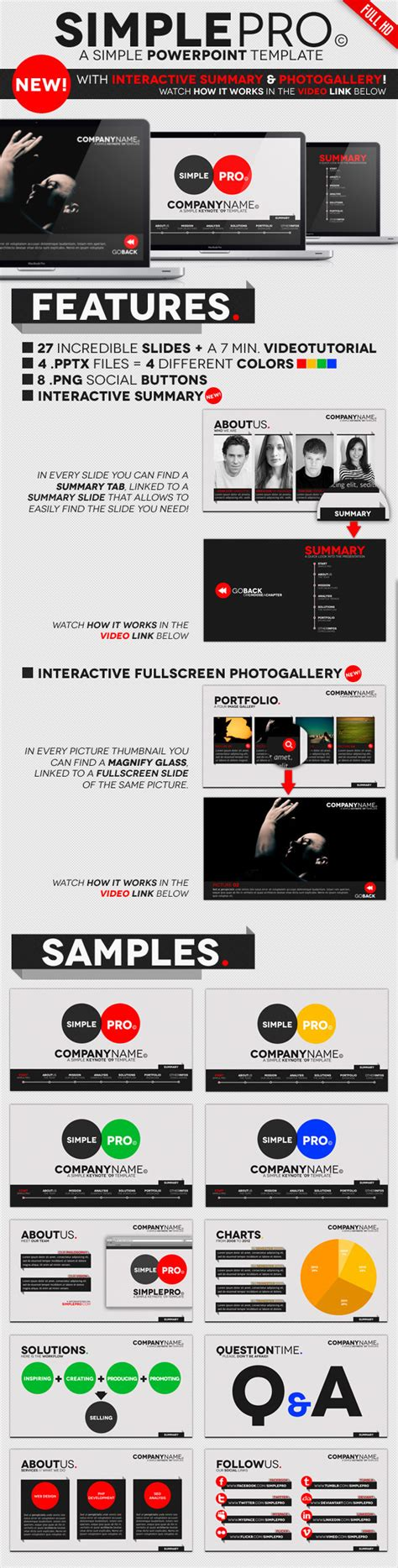 Simple Pro Powerpoint Interactive Template By Opendept Graphicriver Powerpoint Interactive Templates