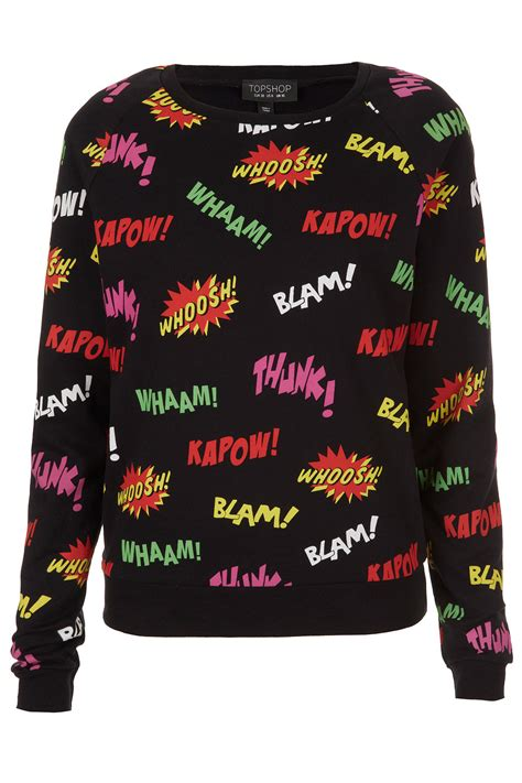 Sweater Comic Pop topshop comic pop sweater be the of your