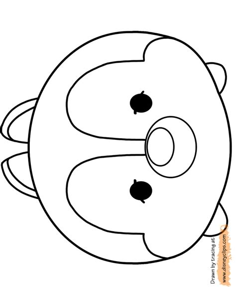 disney tsum tsum coloring pages tsum colouring pages