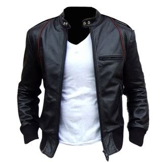 Jaket Kulit Pria Shopee pakaian pria jaket semi kulit model aril hotlist