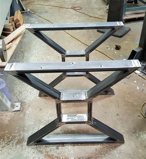 modern metal dining table bases modern dining table x legs heavy duty metal legs by