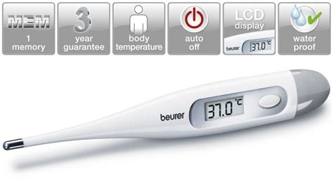 Termometer Beurer beurer ft09 digital thermometer white health monitoring health fitness connected home
