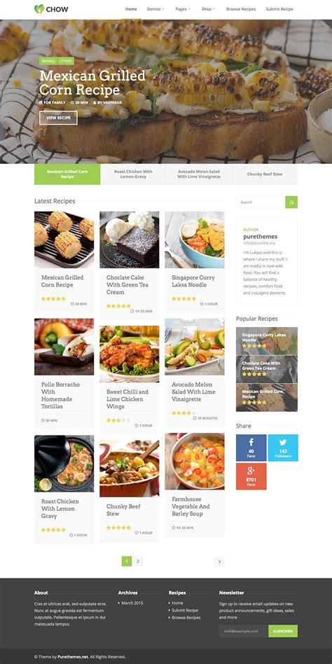 wordpress themes free recipes chow recipe food blog wordpress theme wpexplorer