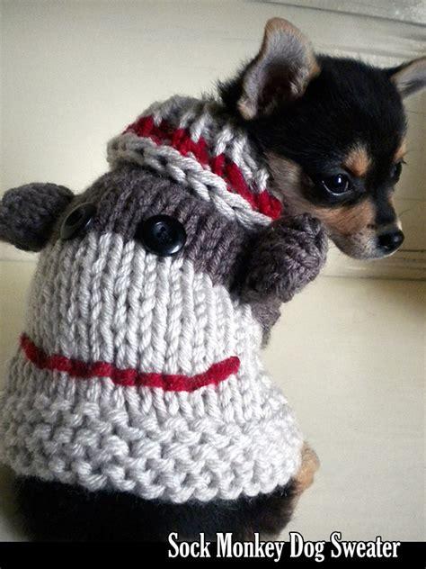 knit pattern chihuahua sweater sock monkey dog sweater knitting pattern on luulla