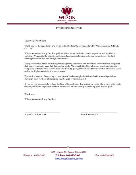 business letter exle news new business introduction letter exles the letter sle