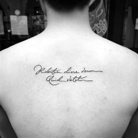 latin neck tattoo collection of 25 latin lettering tattoo on upper back for