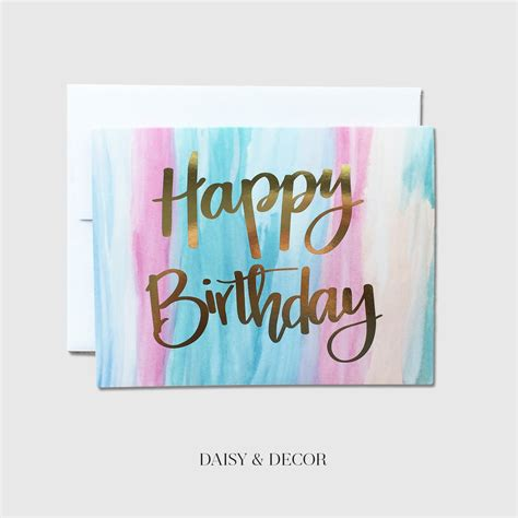 Happy Birthday Watercolour Cards