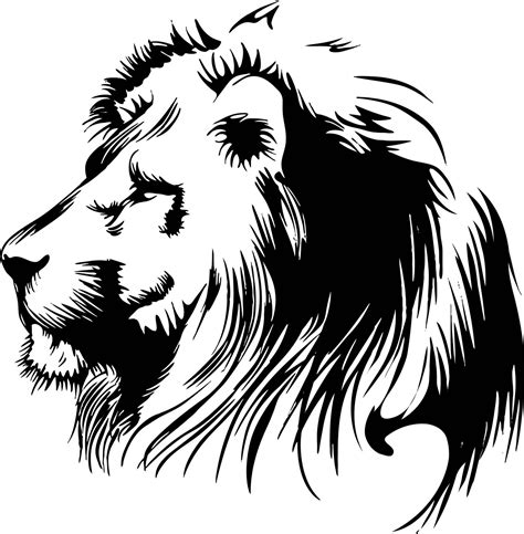 lion outline tattoo free coloring pages of side