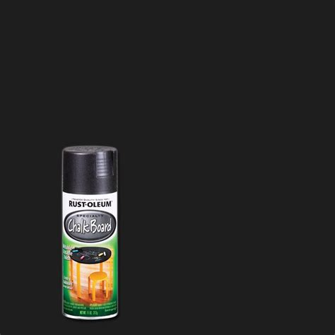 chalkboard paint black rust oleum specialty 11 oz chalkboard flat black spray