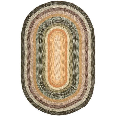 safavieh braided multi 8 ft x 8 ft safavieh braided rust multi 8 ft x 10 ft oval area rug brd303a 8ov the home depot