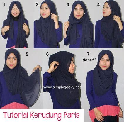 video tutorial hijab paris modern cara pakai hijab paris modern terbaru