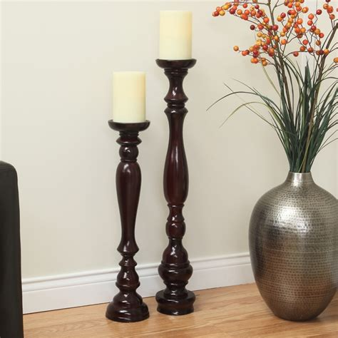 Floor Pillar Candle Holders by Large Floor Pillar Candle Holders Ourcozycatcottage