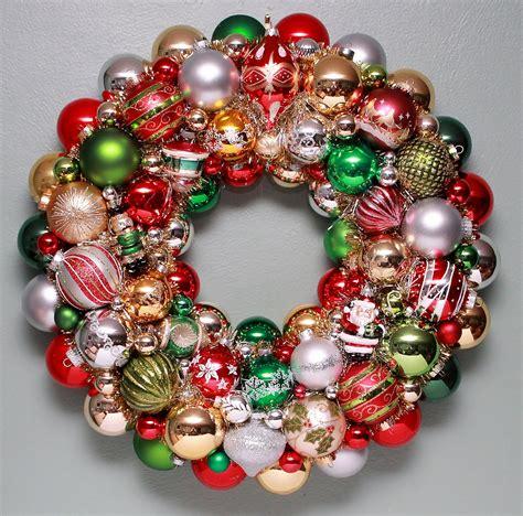 christmas ornament wreath invitation template