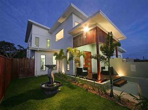 Modern Concrete Homes Home Garden Concrete Modern House Exterior With Porch Landscaped
