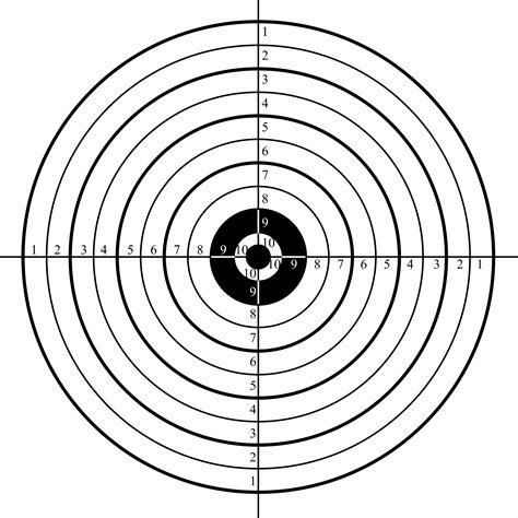 Printable Targets For Sighting In A Rifle free printable shooting targets for pistol rifle airgun