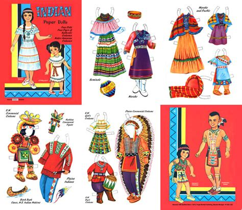printable indian paper dolls indian paper doll printables images