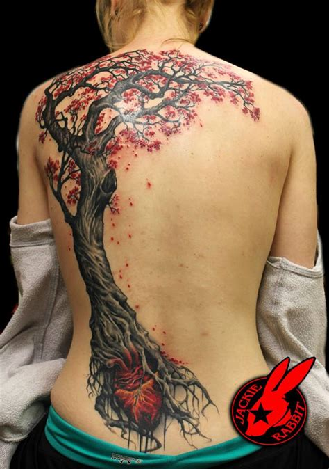 tattoo back tree tree and heart back piece tattoo by jackie rabbit by