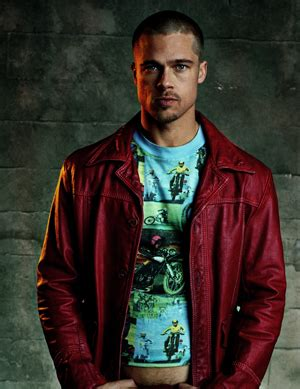 tyler durden hairstyle fight club jacket red leather jacket fight club fight