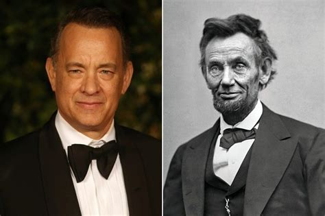 abraham lincoln tom hanks tom hanks and abraham lincoln you didn t