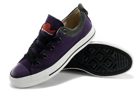 Sepatu Converse Slip On Low Grey cool embroidery limited edition converse purple low tops chucks all canvas grey suede easy