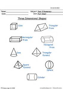 Three Dimensional Shapes Templates by 3 Dimensional Shapes Worksheets New Calendar Template Site