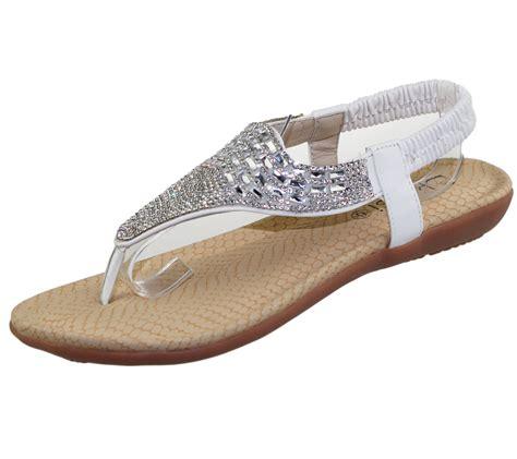 sole sandals womens flat sandals diamante toe post summer