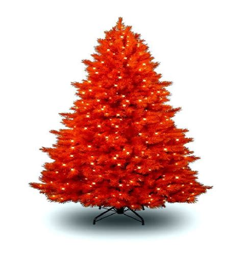 orange artificial christmas tree seasonal winter