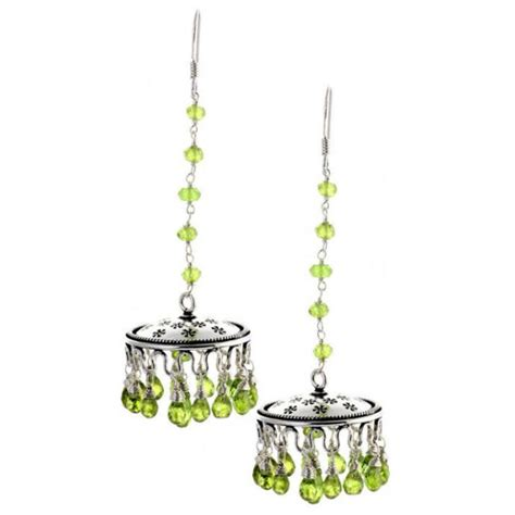 Peridot Chandelier Earrings Peridot Chandelier Earrings From India With Chandelier Earrings Bling And