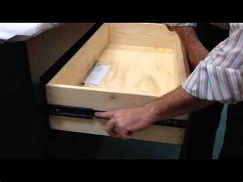 How To Remove Drawers by Removing Heritage Self Drawers With Side Mount